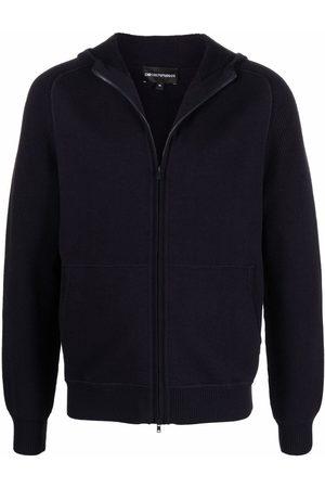 Emporio Armani Zip-up wool hoodie