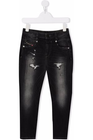 Diesel Girls Jeans - Mid-rise tapered jeans