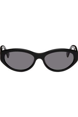 Axel Arigato Black Cat-Eye Tonia Opaque Sunglasses