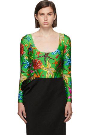 Versace Green Trésor De La Mer Bodysuit