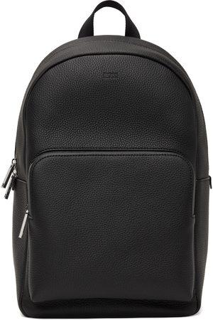 HUGO BOSS Men Luggage - Black Leather Crosstown Backpack