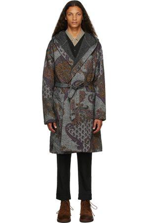 Engineered Garments Grey & Purple Paisley Robe