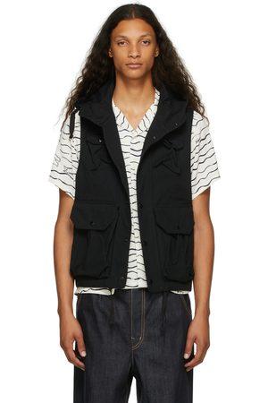 Engineered Garments Men Gilets - Black Ripstop Field Vest