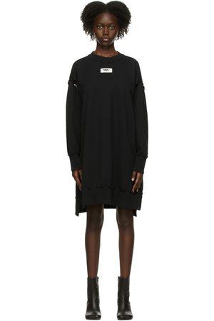 MM6 Maison Margiela Women Casual Dresses - Black Underarm Hole Sweater Dress