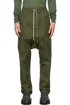 Rick Owens Green Long Cargo Pants