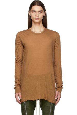 Rick Owens Tan Basic Long Sleeve T-Shirt