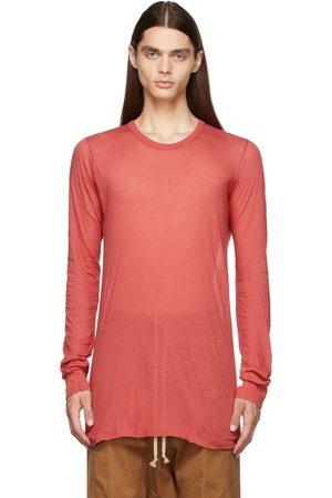 Rick Owens Men Long Sleeve - Red Basic Long Sleeve T-Shirt