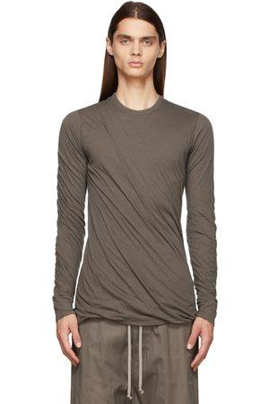 Rick Owens Men Long Sleeve - Taupe Double Long Sleeve T-Shirt