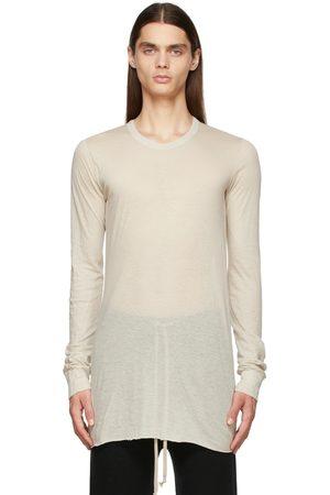 Rick Owens Men Long Sleeve - Off-White Basic Long Sleeve T-Shirt