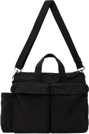 Jil Sander Black Overnight Duffle Bag