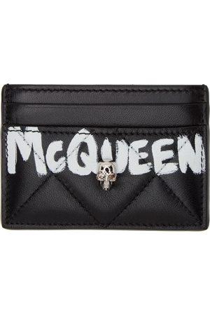 Alexander McQueen Black Quilted Graffiti Card Holder