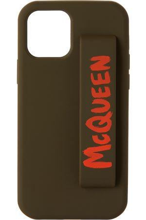 Alexander McQueen Phones Cases - Green & Orange Graffiti iPhone 12 Pro Case