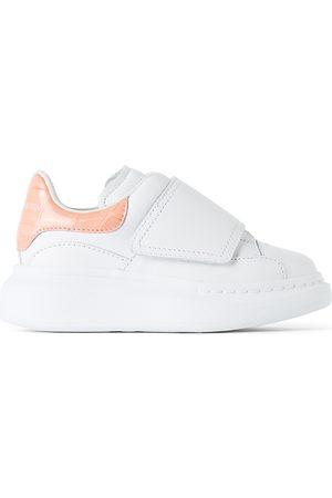 Alexander McQueen Kids White & Pink Croc Tab Velcro Oversized Sneakers