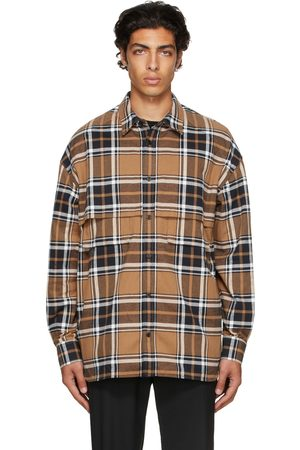 JUUN.J Brown Check Shirt