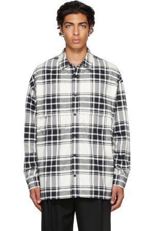 JUUN.J Men Casual - Beige & Black Check Shirt