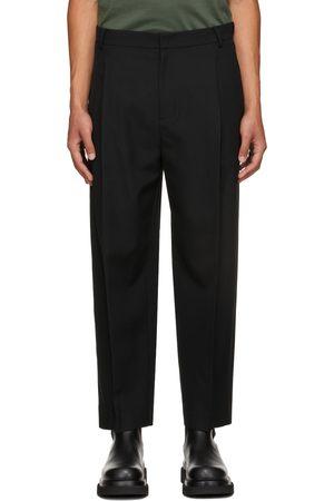 JUUN.J Men Pants - Black Wool Trousers