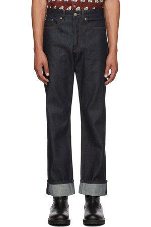 Dries Van Noten Indigo Contrast Stitch Raw Denim Jeans