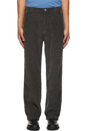 Kenzo Men Pants - Grey Corduroy Carpenter Trousers