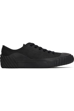 Kenzo Black Leather Tiger Crest Sneakers