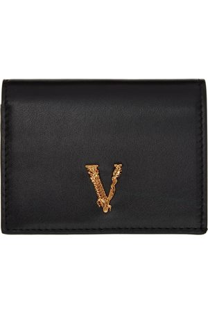 VERSACE Black & Gold Virtus Wallet