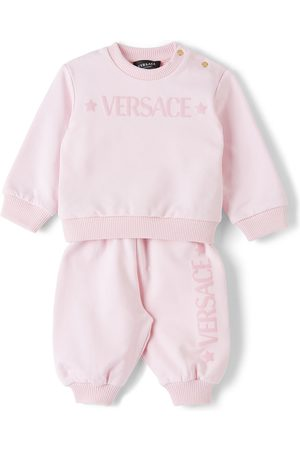 Versace Baby Pink Branded Tracksuit Set