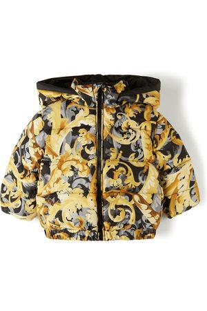 Versace Jackets - Baby Black & Yellow Down Baroccoflage Jacket