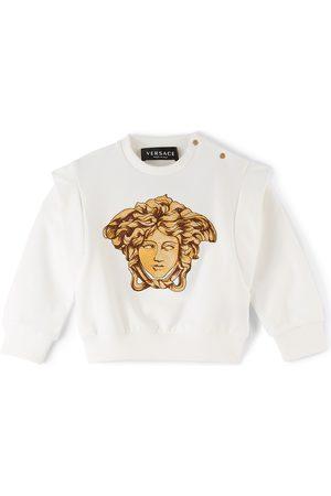 Versace Sweatshirts - Baby White Medusa Sweatshirt
