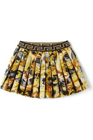 Versace Baby Skirts - Baby Yellow & Black Baroccoflage Skirt