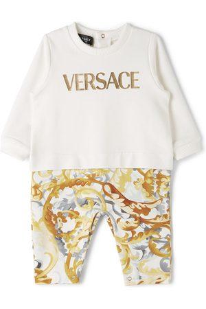 Versace Rompers - Baby White No-Feet Bodysuit