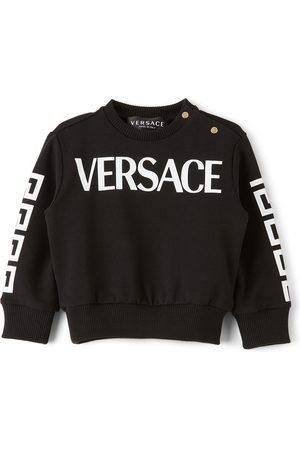 Versace Sweatshirts - Baby Black Greca Logo Sweatshirt