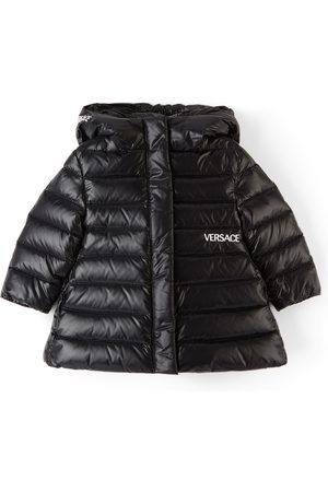 Versace Jackets - Baby Black Down Logo Embroidery Jacket