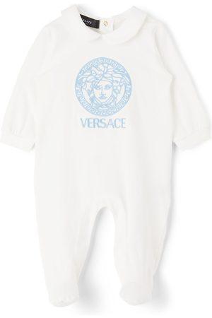 Versace Rompers - Baby White Medusa Bodysuit