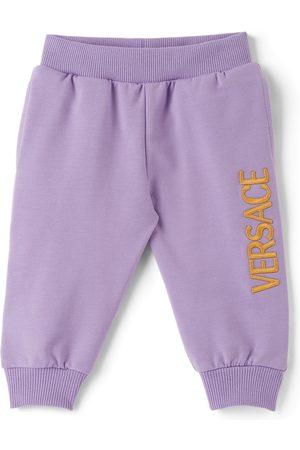 Versace Pants - Baby Purple Embroidered Logo Lounge Pants