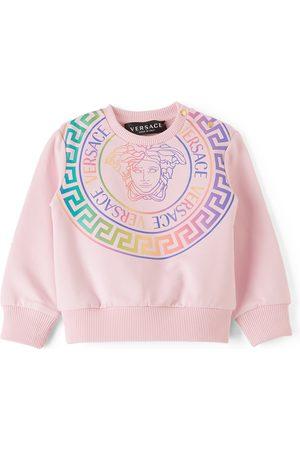 Versace Sweatshirts - Baby Pink Medusa Print Sweatshirt