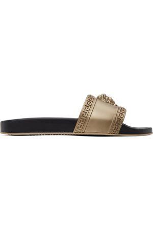 Versace Men Sandals - Gold Palazzo Pool Slides