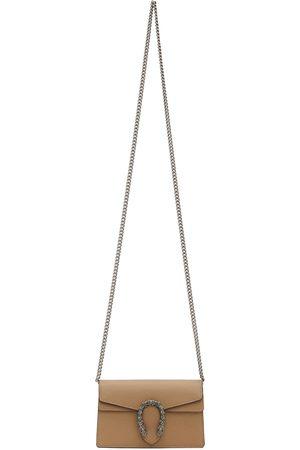 Gucci Women Shoulder Bags - Tan Super Mini Dionysus Bag