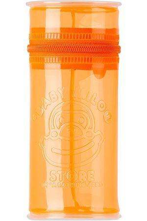 BAPE Bags - Orange Logo PVC Tall Pouch