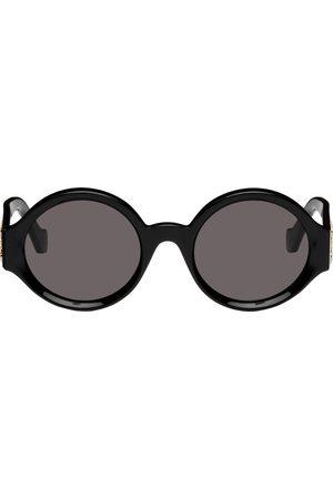 Loewe Women Round - Black Round Logo Sunglasses