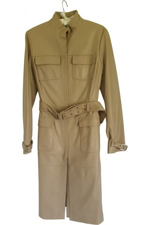 Elie Tahari Leather trench coat