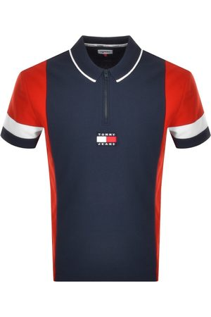 Tommy Hilfiger Colour Block Polo T Shirt Navy