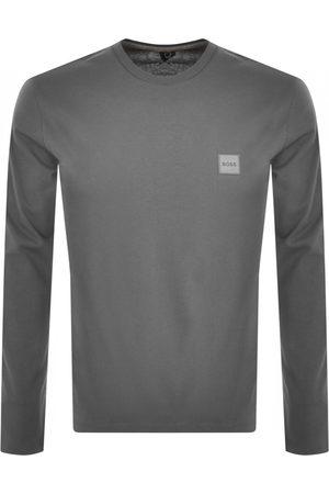 HUGO BOSS BOSS Long Sleeved Tacks 1 T Shirt Grey