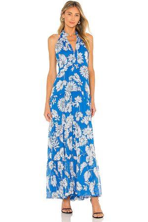 Amanda Uprichard Sleeveless Saffron Maxi Dress in Blue.