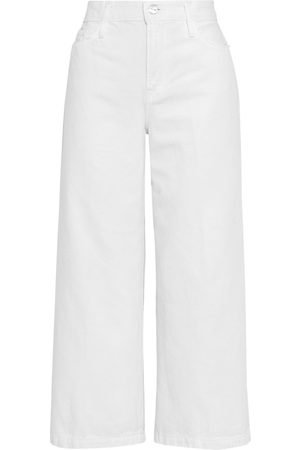 FRAME Women High Waisted - Woman Ali Wide Crop High-rise Wide-leg Jeans Size 25