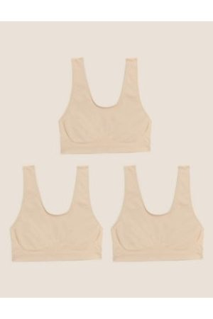 M&S Collection 3pk Seamless Non Wired Crop Tops