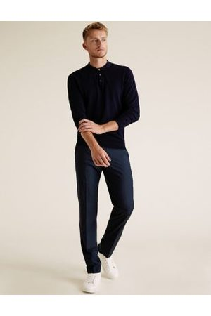 M&S Collection Slim Fit Trousers with Stretch