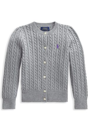 Polo Ralph Lauren Girls Cardigans - Little Girl's Cable-Knit Cardigan