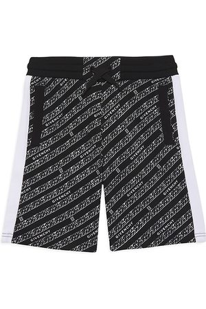 Givenchy Boys Bermudas - Little Boy's & Boy's Bermuda Chain-Print Sweat Shorts