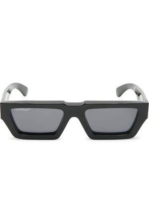 Off-White Manchester 146MM Rectangle Sunglasses