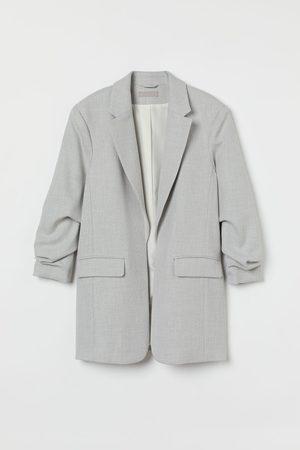 H & M Women Blazers - Gathered-sleeve Jacket