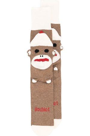 DOUBLET Men Socks - Sockmonkey mid-calf socks